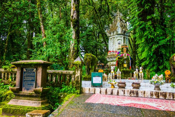 King Inthanon Memorial Shrine in Doi Inthanon national park