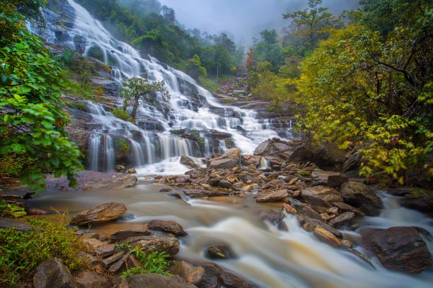 The beauty of Mae Ya waterfall in Inthanon National Park