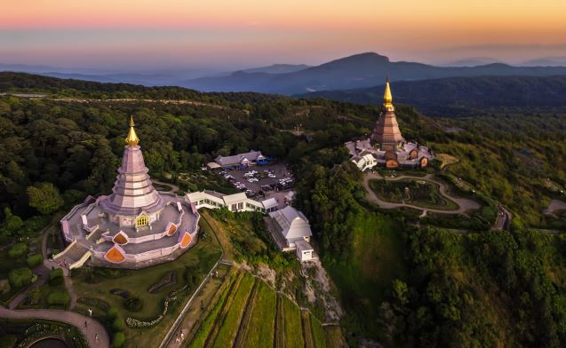 The great holy relics pagoda in Doi Inthanon National Park Chiang Mai