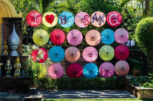 Umbrella Decoration in Bor Sang Village, Chiang Mai