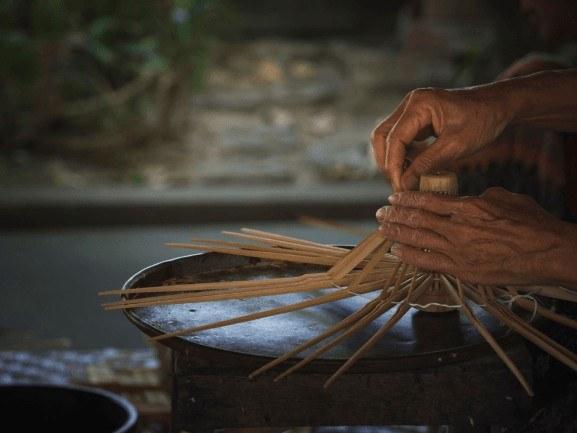 umbrella making in Bo Sang Village Chiang Mai