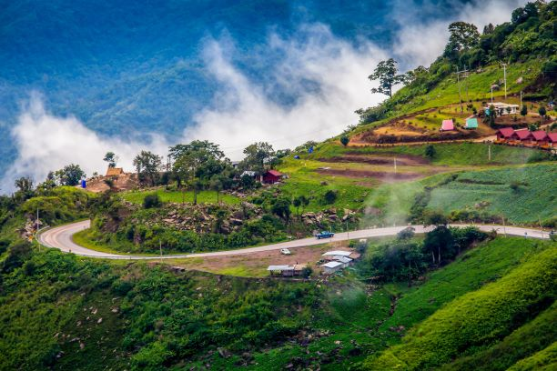 Beautiful scenery road to Phu Thap Buek mountain