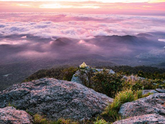 Beautiful sunrise at Narai Cliff