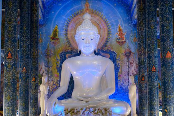 Buddha image statue of the Wat Rong Suea Ten Temple in Chiang Rai