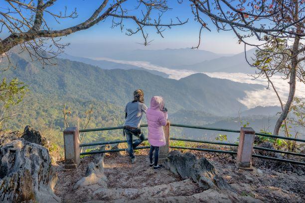 Chong Pha Kad Viewpoint (The Mountain Pass Viewpoint) at Doi Pha Tang Chiang Rai