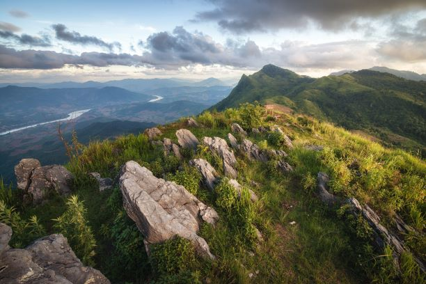 Doi Pha Tang mountain in Chiang Rai Thailand