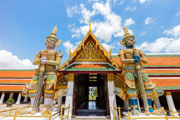 Gate-keeper Giants at the entrance of Wat Phra Kaew