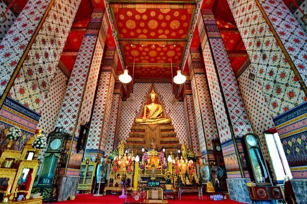 Golden Buddha inside Ubosot of Wat Arun