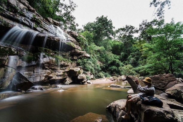 pleasant atmosphere of Haew Sai Waterfall