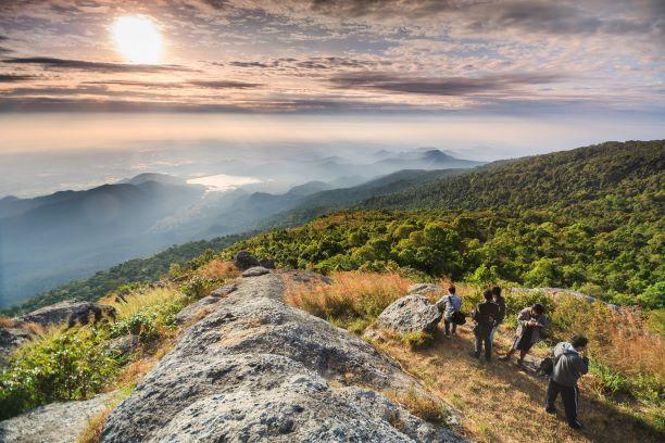 Khao Luang Mt. in Ramkhamhaeng National Park in Sukhothai Thailand