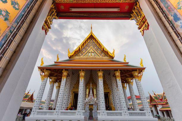 Main Hall Wat Arun Ratchawararam Temple - Bangkok Thailand