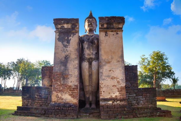 Mondop of Phra Attharot -Wat-Phra-Si-Rattana-Mahathat-Sukhothai