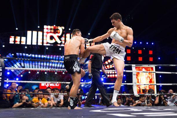 Boxing Fighting in Bangkok, Thailand