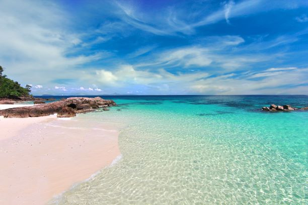 Clear water and peceful Paradise beach