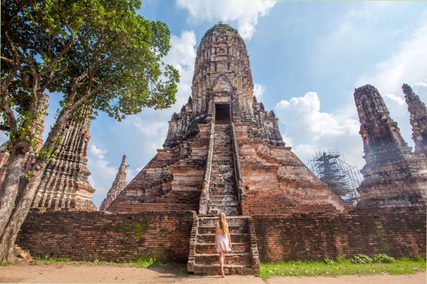 Phra Prang Si Rattana Mahathat in Wat Chaiwatthanaram