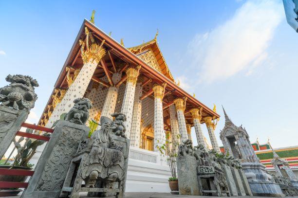 Phra Ubosot (Ordination Hall) Wat Arun temple-Bangkok