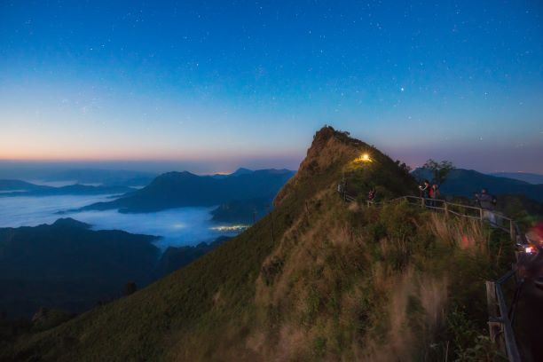 Phu Chi Dao in the night time