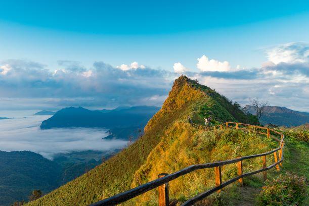 Phu chi dao peak of mountain in Chiang rai,Thailand