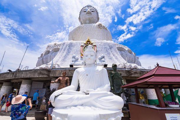 Amazing Massive white marble Buddha statue