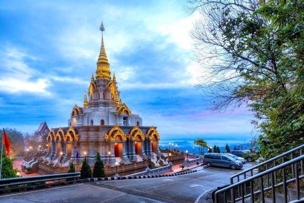 Sinakarintra Stit Mahasantikhiri Pagoda ,Doi Mae Salong Chiang Rai Thailand