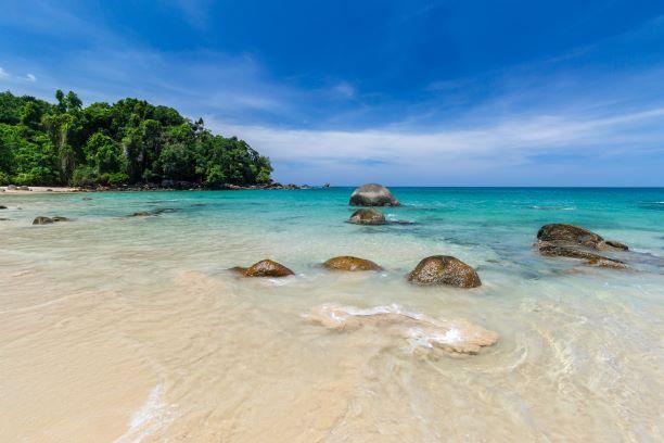 Small Sandy Beach at Lam Ru national park in Khao Lak