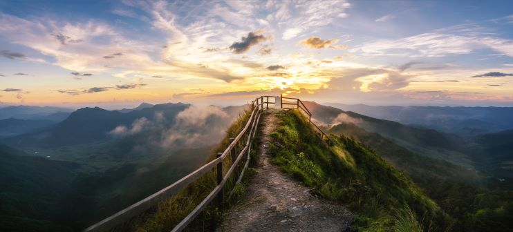 See Sunset in Phu Chi Dao mountain