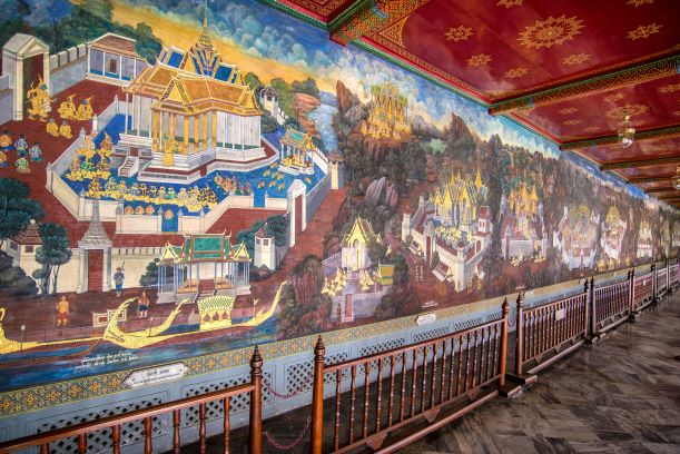 Thai mural paintings of thetemple of the emerald buddha