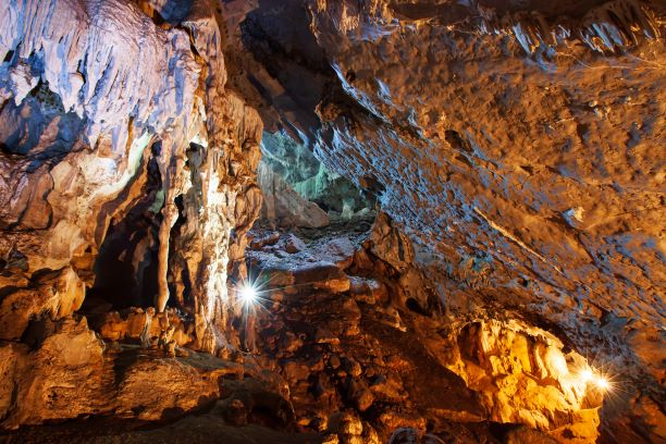magnificent grand cave Tham Yai Nam Nao in Nam Nao National Park