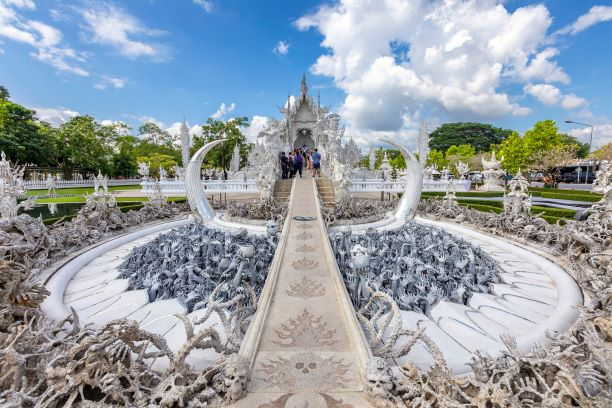 The architectural of the art of Wat Rong Khun, the white temple-Chiang Rai Thailand