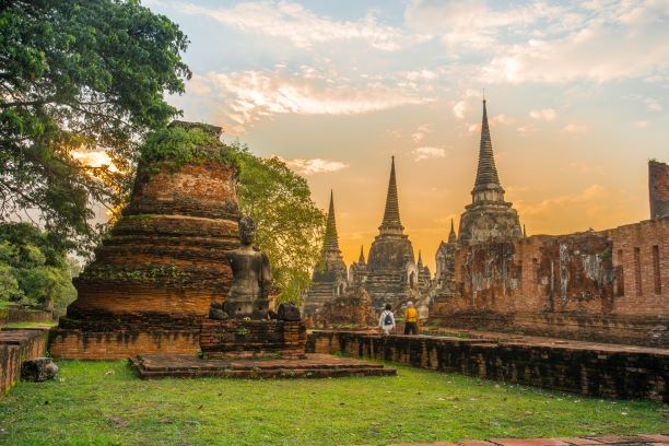 View of Wat Phra Si Sanphet-Ayutthaya