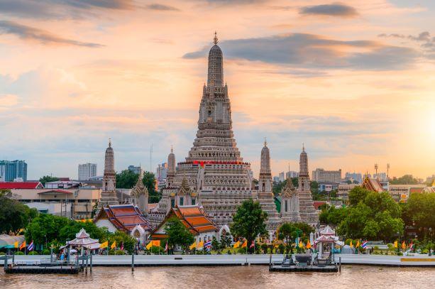 Wat Arun Ratchawararam Temple or the temple of dawn in Bangkok Thailand