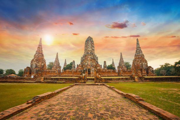 Wat Chaiwatthanaram temple, Ayuthaya Historical Park, a UNESCO world heritage Thailand