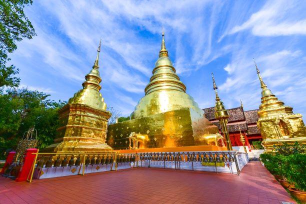 Wat Phra Singh Chedi-Chiang Mai, Thailand