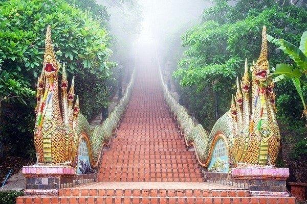Wat Phra That Doi Suthep Naga Stairs-Chiang Mai