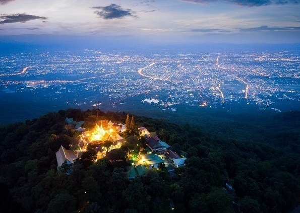 Wat Phra That Doi Suthep on Suthep Mountain-Chiang Mai