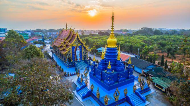 Wat Rong Suea Ten, the Blue Temple -ChiangRai Thailand