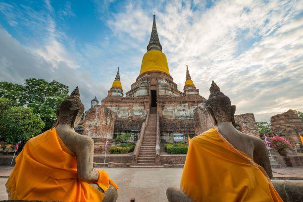 Wat Yai Chai Mongkol in Ayutthaya Thailand
