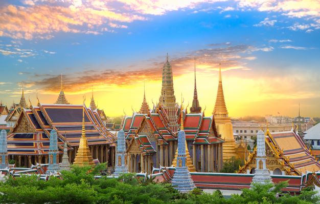 Wat phra keaw or the emerald buddha in bangkok Thailand