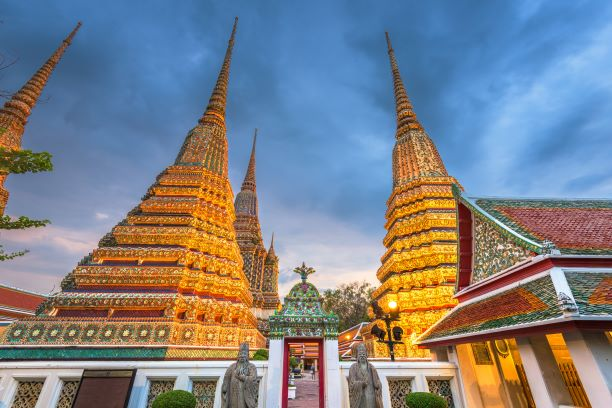 four towers of Prang Wat Pho temple