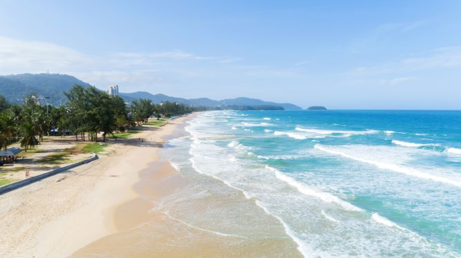 karon beach, the longest beach in Phuket thailand