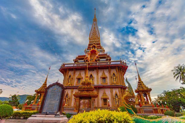 beautiful Phra Mahathat Chedi Phrajomthai