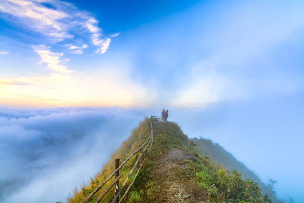 the Mist in the Morning at Phu Chi Dao
