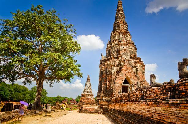 the Satellite Pagodas in Wat Chaiwatthanaram