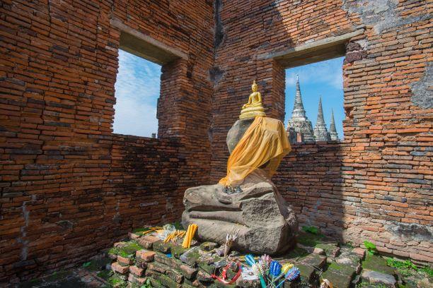 Buddha temple in Ayutthaya Mongkolbophit