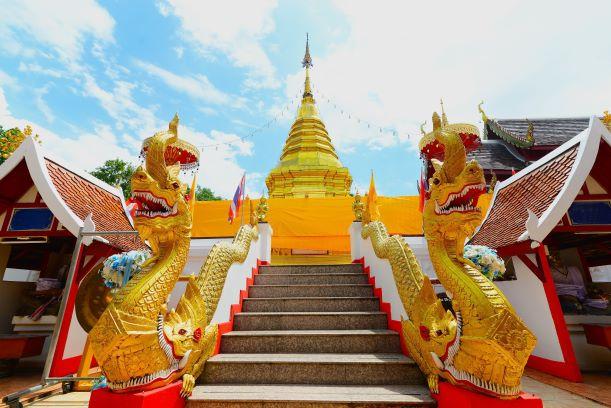 "Pagoda ""Phra That Doi Kham"" means golden temple"