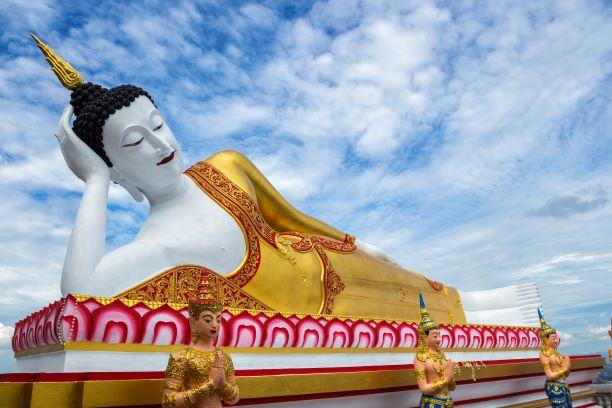The Giant Reclining Buddha Image