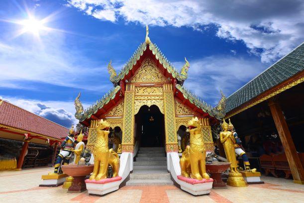 Ubosot (ordination hall) at Wat Phra That Doi Kham