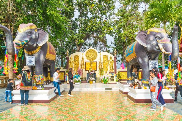 two elephant kings at Wat Phra That Doi Kham