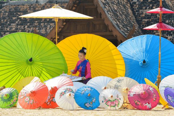 Bo Sang Umbrella Village Chiang Mai Thailand