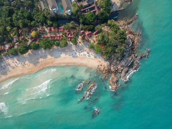 Aerial view on Chaweng Beach on Koh Smaui island, Thailand